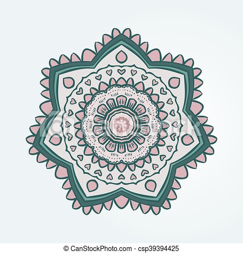 Buddhism Aquamarine Pattern Lotus