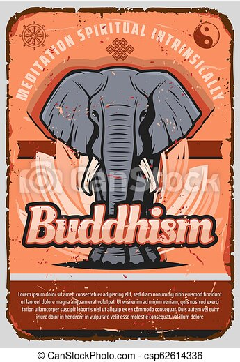 Buddhism Religion Elephant Lotus Yin And Yang Buddhism Religion