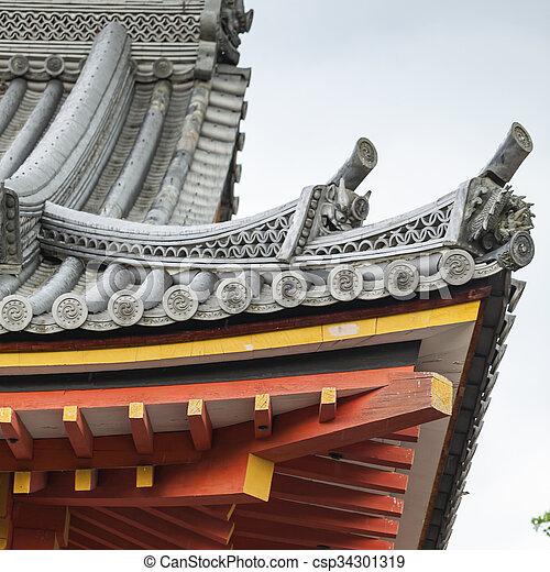 Japanisches Dach buddhismus japanisches dach tempel stockfotografie bilder und