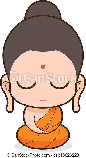 buddhist 修道士 - csp18626223
