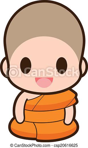 buddhist 修道士 - csp20616625