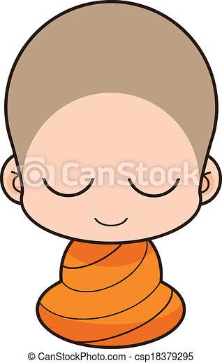 buddhist 修道士 - csp18379295