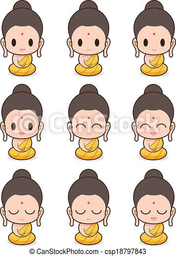 buddhist 修道士 - csp18797843