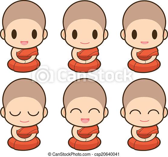 buddhist 修道士 - csp20640041