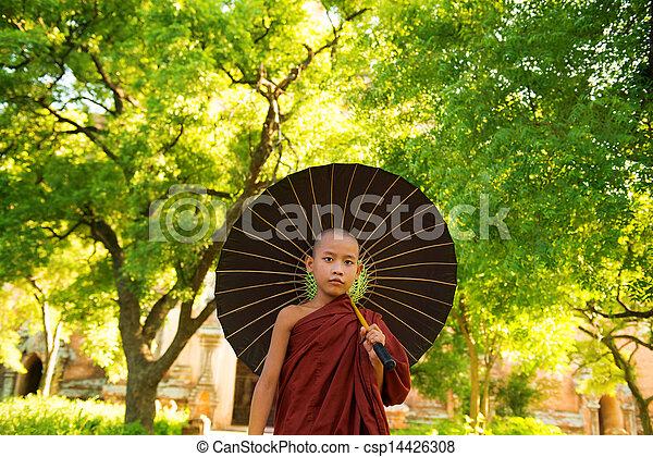 Buddhist monk  - csp14426308