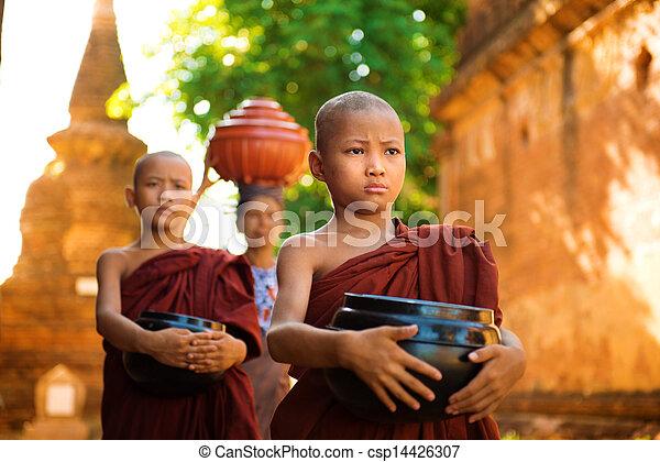 Buddhist monks Myanmar - csp14426307