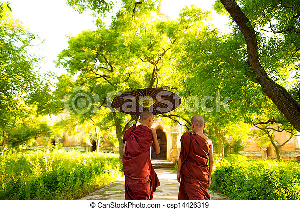 Buddhist monks  - csp14426319