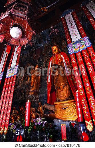 Buddhist Statue Jade Buddha Temple Jufo Si Shanghai China - csp7810478