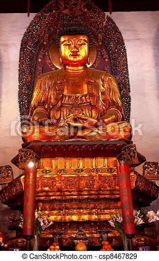 Buddhist Statue Jade Buddha Temple Jufo Si Shanghai China - csp8467829