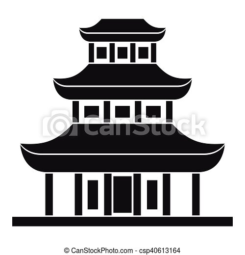buddhist temple icon in simple style on a white background clip rh canstockphoto com temple clip art black and white temple clipart