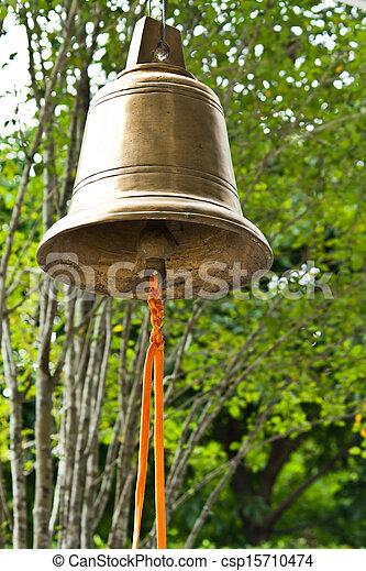 Buddhist wishing bell, Thailand - csp15710474