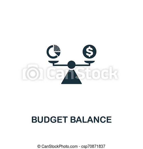 Budget Balance icon. Premium style design from business management icon collection. Pixel perfect Budget Balance icon for web design, apps, software, print usage - csp70871837