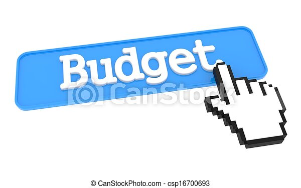Budget Button with Hand Cursor. - csp16700693