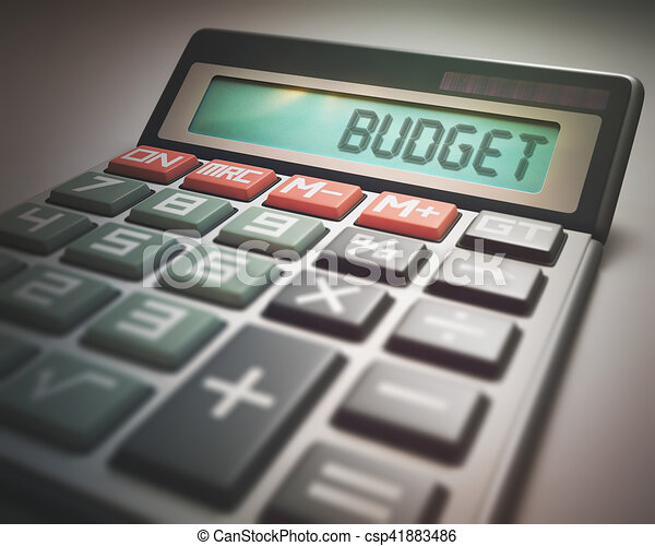 budget calculator solar calculator with the word budget on the