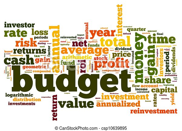 Budget concept in tag cloud - csp10639895
