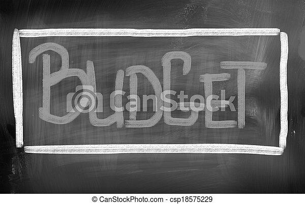 Budget Concept - csp18575229