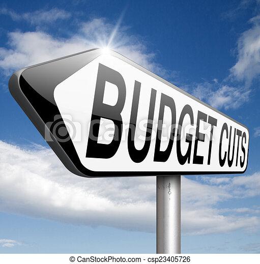 budget cuts - csp23405726