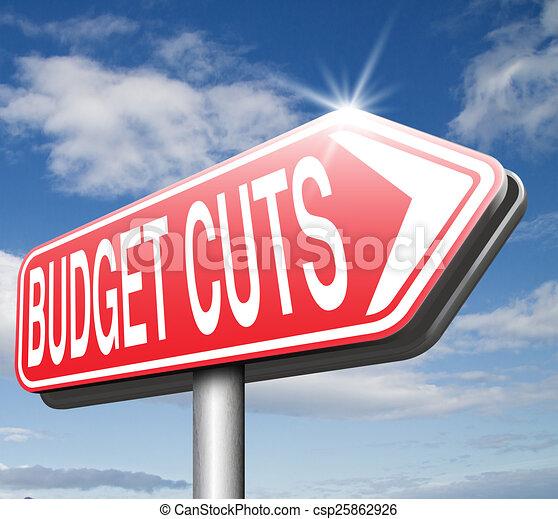 budget cuts - csp25862926