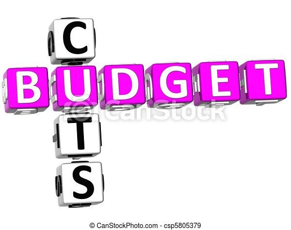 Budget Cuts Crossword - csp5805379