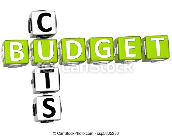 Budget Cuts Crossword - csp5805358