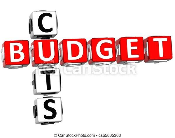 Budget Cuts Crossword - csp5805368