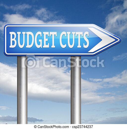 budget cuts - csp23744237