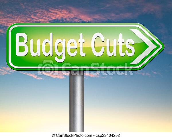 budget cuts - csp23404252