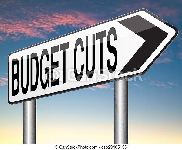 budget cuts - csp23405155