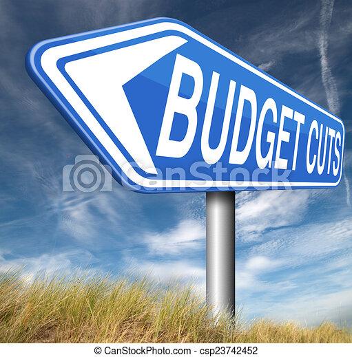budget cuts - csp23742452