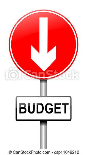 Budget decrease. - csp11049212