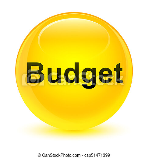 Budget glassy yellow round button - csp51471399