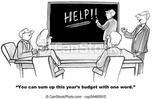 Budget Needs Help - csp34460910