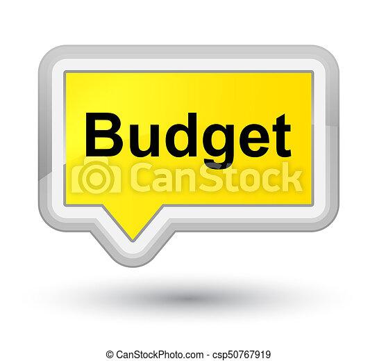 Budget prime yellow banner button - csp50767919