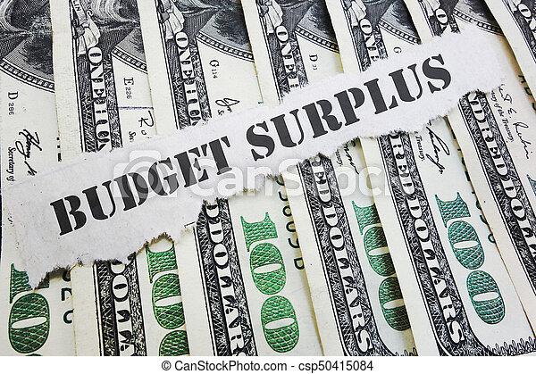 Budget Surplus concept - csp50415084