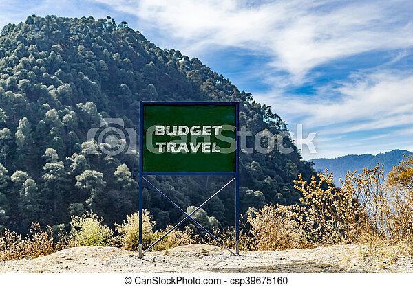 Budget travel - csp39675160