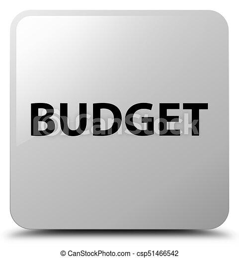 Budget white square button - csp51466542