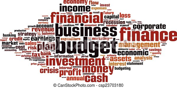 Budget word cloud - csp23703180