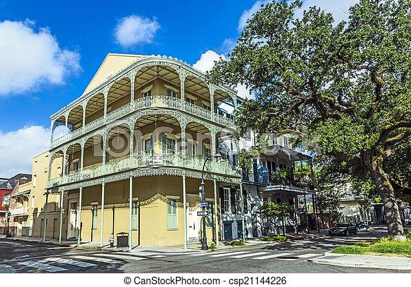 budova, čtvrt, dějinný, francouzština - csp21144226