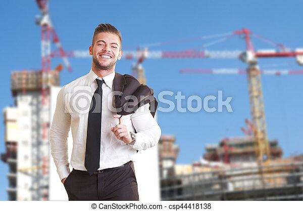 budowa umieszczenie, handlowy zaludniają - csp44418138