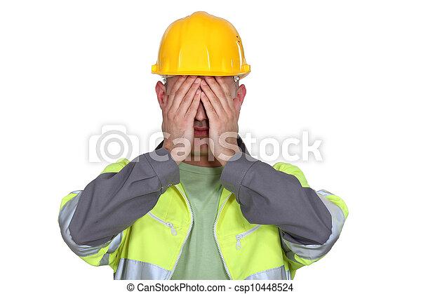budowniczy, przewrócić - csp10448524
