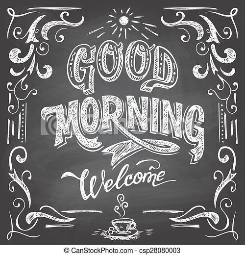 bueno, café, pizarra, mañana - csp28080003