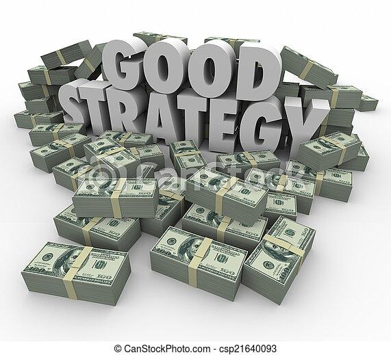 bueno, financiero, dinero, consejo, estrategia, plan, ganancia, más - csp21640093