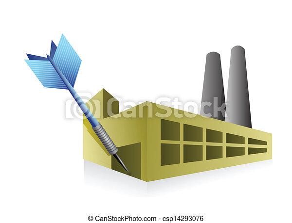 Apunta al buen negocio industrial. - csp14293076