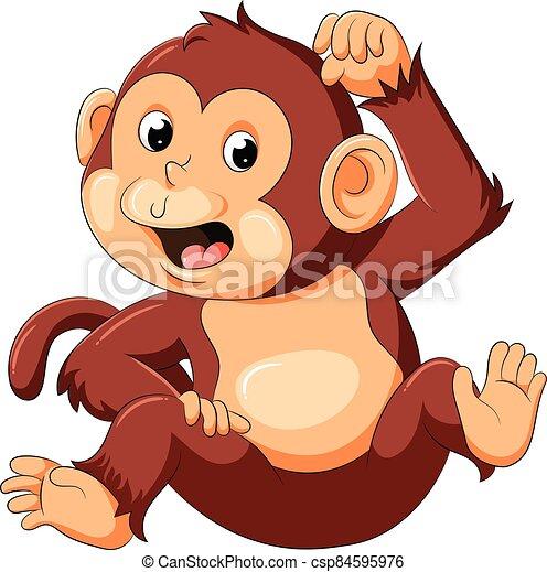 bueno, mono, posar, bebé - csp84595976