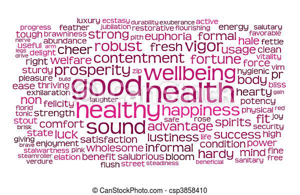 Buena salud o nube de etiqueta - csp3858410
