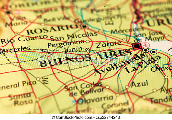 Where Is Buenos Aires On A World Map.Buenos Aires On Map Buenos Aires Argentina On Atlas World Map