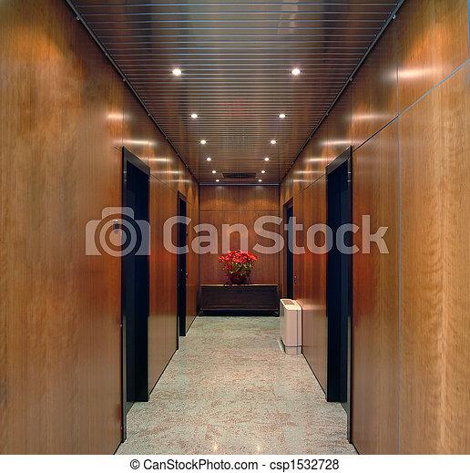 buero, korridor - csp1532728