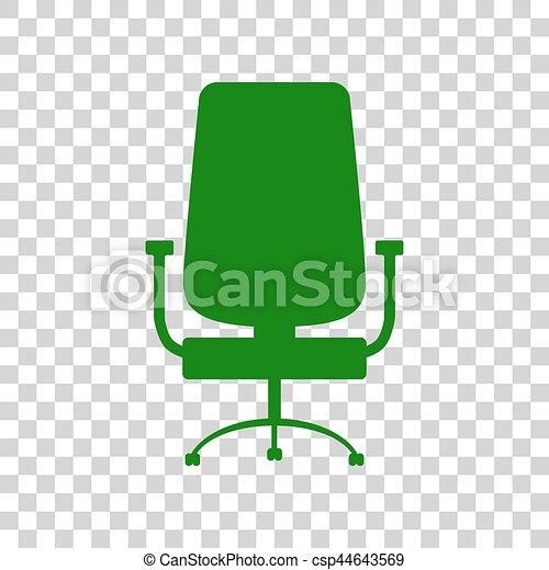Buero Zeichen Dunkel Hintergrund Grüner Stuhl Durchsichtig