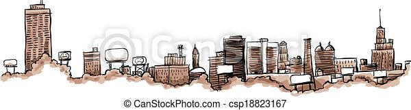 Buffalo City Skyline - csp18823167