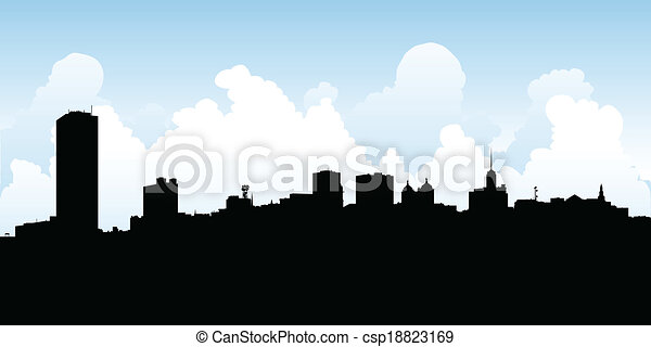 Buffalo City Skyline - csp18823169